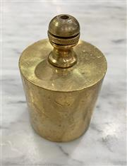 Sale 8951P - Lot 348 - Brass Lead Filled Flat Bottom Plumb Bob (9cm)