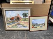 Sale 9072 - Lot 2078 - P E Bergman Windsor Farmhouse oil on canvas board 65 x 76cm, signed
