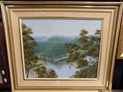 Sale 8437 - Lot 2071 - Beverley Daly (XX) - Wisemans Ferry Lookout 39.5 x 49cm