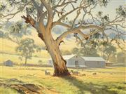 Sale 8467 - Lot 524 - Melvin Duffy (1930 - ) - The Gnarled Shade Tree (Between Cowra and Frogmore) 45.5 x 59.5cm