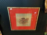 Sale 8636 - Lot 2077 - Li Sung - Dragon Boat, Framed Print 43x46cm frame size -