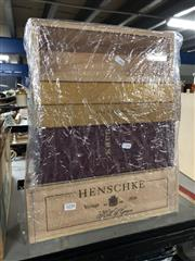 Sale 8789 - Lot 2258 - 4 Single Bottle Empty Wine Boxes incl. Henschke, Krug, etc