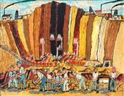 Sale 8892 - Lot 537 - Samuel Byrne (1883 - 1978) - Broken Hill Open Cut, 1898 60 x 75.5 cm