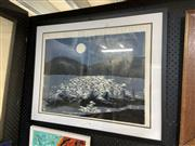 Sale 8895 - Lot 2090 - Artist unknown - Under the moonlight, framed limited edition print, signed lower right