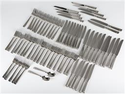 Sale 9255H - Lot 62 - A quantity of Christofle Laguna stainless steel cutlery (72pcs), together with a grey suede Christofle cutlery case;