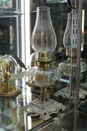 Sale 8327 - Lot 8 - Vintage Kerosene Lamp