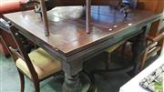 Sale 8375 - Lot 1079 - Early Extending Table, with draw leaves on stretcher base