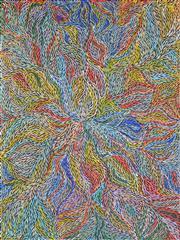 Sale 8344 - Lot 551 - Jeannie Petyarre (c1956 - ) - Bush Yam Leaves 203 x 153cm