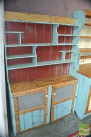 Sale 8383 - Lot 1362 - Rustic Painted Kitchen Cabinet