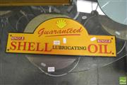 Sale 8406 - Lot 1089 - Repro Cast Iron Shell Oil Advert