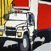 Sale 8510 - Lot 539 - Jasper Knight (1978 - ) - Red and White Mack Truck, 2008 90 x 90cm