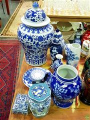 Sale 8582 - Lot 2180 - Collection of Blue & White Ceramics