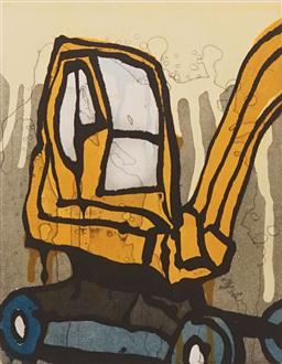 Sale 8665A - Lot 5040 - Jasper Knight (1978 - ) - Baby Crane, 2009 25 x 19.5cm (frame: 57.5 x 48cm)