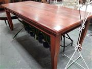 Sale 8669 - Lot 1089 - Large Timber Dining Table with Drawers