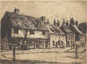 Sale 8807 - Lot 2002 - Will Ashton (1881 - 1963) - Old Houses, Sandwich England 12 x 16.5cm