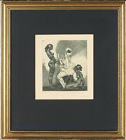 Sale 8828 - Lot 2015 - Norman Lindsay - Toilet, 1932 16 x 14cm