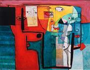 Sale 8867 - Lot 537 - Henryk Szydlowski (1950-) - Red Puppet from the Field Full of Dreams 1997 75 x 90 cm
