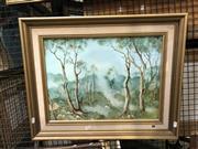 Sale 8861 - Lot 2052 - P. V Bernard Stringybark and Saplingsoil on board, 66 x 53.5cm signed