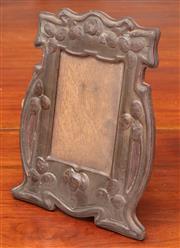Sale 9058H - Lot 20 - A copper art nouveau embossed photo frame. 27 x 19.5cm