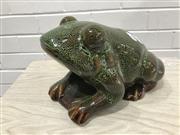 Sale 9059 - Lot 1012 - Ceramic Frog Figure (H:15 x L:23 x W:18cm)