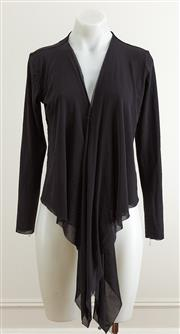 Sale 9081H - Lot 60 - A Simona black chiffon bolero jacket with tie front, size 10