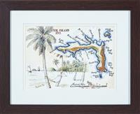 Sale 9090H - Lot 22 - R Ellis, A Print of Peter Island, B.V.I. dated 2005. Frame size 32cm x 41cm