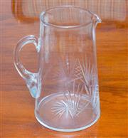 Sale 8341A - Lot 45 - An Edwardian hand cut crystal water jug, H 19cm