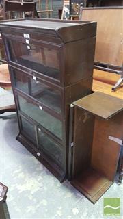 Sale 8375 - Lot 1097 - Vintage Oak Legal Bookcase, of five sections