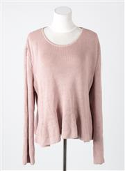 Sale 8541A - Lot 66 - A St John wool blend knit loose fit jumper in orchid, size XL, as new with tags, RRP USD $495