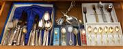 Sale 8414A - Lot 96 - A quantity of assorted EP cutlery, serving wares, novelty spoons etc