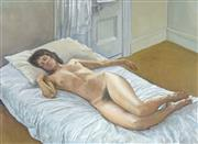 Sale 8713 - Lot 548 - Brian Dunlop (1938 - 2009) - Reclining Nude 56 x 76cm