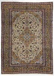 Sale 8740C - Lot 11 - A Persian Kashan From Isfahan Region 100% Wool Pile On Cotton Foundation, 400 x 300cm