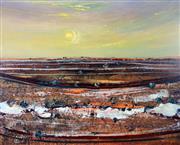 Sale 8787A - Lot 5066 - Robert Fisher - Sunrise Towards Lake Eyre, 2005 81 x 101.5cm