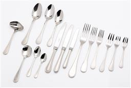 Sale 9255H - Lot 95 - A quantity of Christofle Albi matte stainless-steel cutlery, includes 2 Guy Degrenne for Christofle examples (72 pcs), and cutlery...