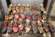 Sale 8304 - Lot 92 - Hand Painted Thai Figures