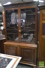 Sale 8335 - Lot 1013 - 19th Century Georgian Style Mahogany Bookcase (Key in Office)