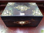 Sale 8485 - Lot 1065 - Victorian Coromandel Box, mounted with gilt brass & ivory (lacking fit-out)