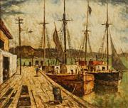 Sale 8642A - Lot 5089 - Arthur Evan Read (1911 - 1978) - The Port 34 x 39cm
