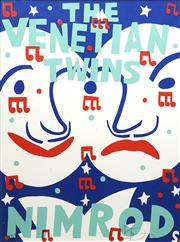Sale 8711 - Lot 2006 - Martin Sharp (1942 - 2013) - The Venetian Twins 101 x 75cm
