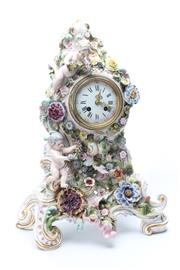 Sale 8729 - Lot 79 - Large Possibly Meissen Clock