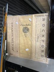 Sale 8789 - Lot 2254 - 3 Wooden Magnum empty Boxes incl. Rockford, Melton, etc