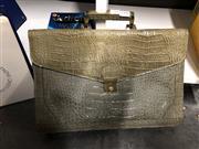 Sale 8819 - Lot 2398 - Faux Crocodile Skin Briefcase