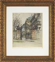 Sale 8833 - Lot 2007 - Artist Unknown - Mansion Entrance 61 x 54cm