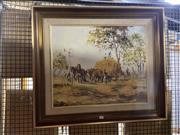 Sale 8924 - Lot 2053 - Peter Hughes - Hay Cart Oil/board