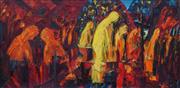 Sale 8938A - Lot 5044 - Eileen Farmer Lee - Tribulation, c1960 36 x 74 cm (frame: 50 x 88 x 4 cm)
