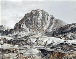 Sale 9195 - Lot 542 - HANS HEYSEN (1877 - 1968) - Flinders Ranges, South Australia, 1929 38 x 49.5 cm (frame: 72 x 84 x 4 cm)