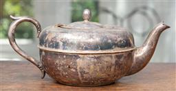Sale 9120H - Lot 79 - A silver plated tea pot, Length 25cm