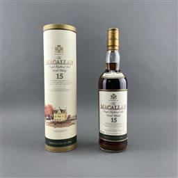 Sale 9120W - Lot 1402 - 1984 The Macallan Distillers 15YO Sherry Oak Cask Single Highland Malt Scotch Whisky - 43% ABV, 700ml in canister