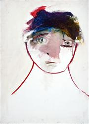 Sale 8410A - Lot 5070 - Anne Hall (1945 - ) - Untitled (Blank Sitter) 76.5 x 56cm