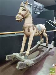 Sale 8495F - Lot 1004 - Vintage Carved Timber Horse